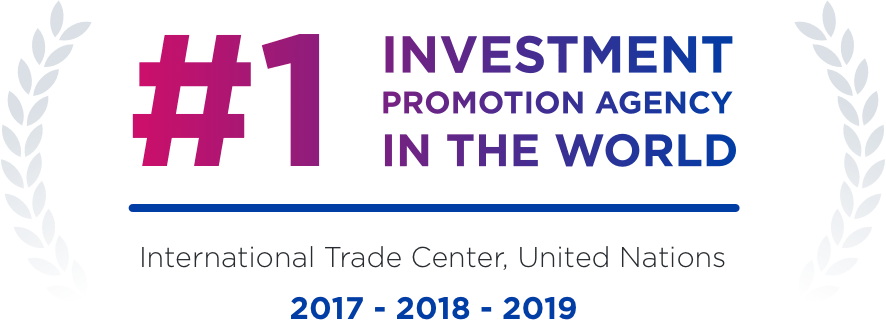 #1 investment promotion agency in the world in 2017, 2018, 2019 according to International Trade Center, United Nations.