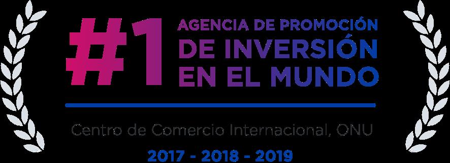 Agencia #1 de promoción de inversiones en el mundo en 2017, 2018, 2019 según el Centro de Comercio Internacional, Naciones Unidas