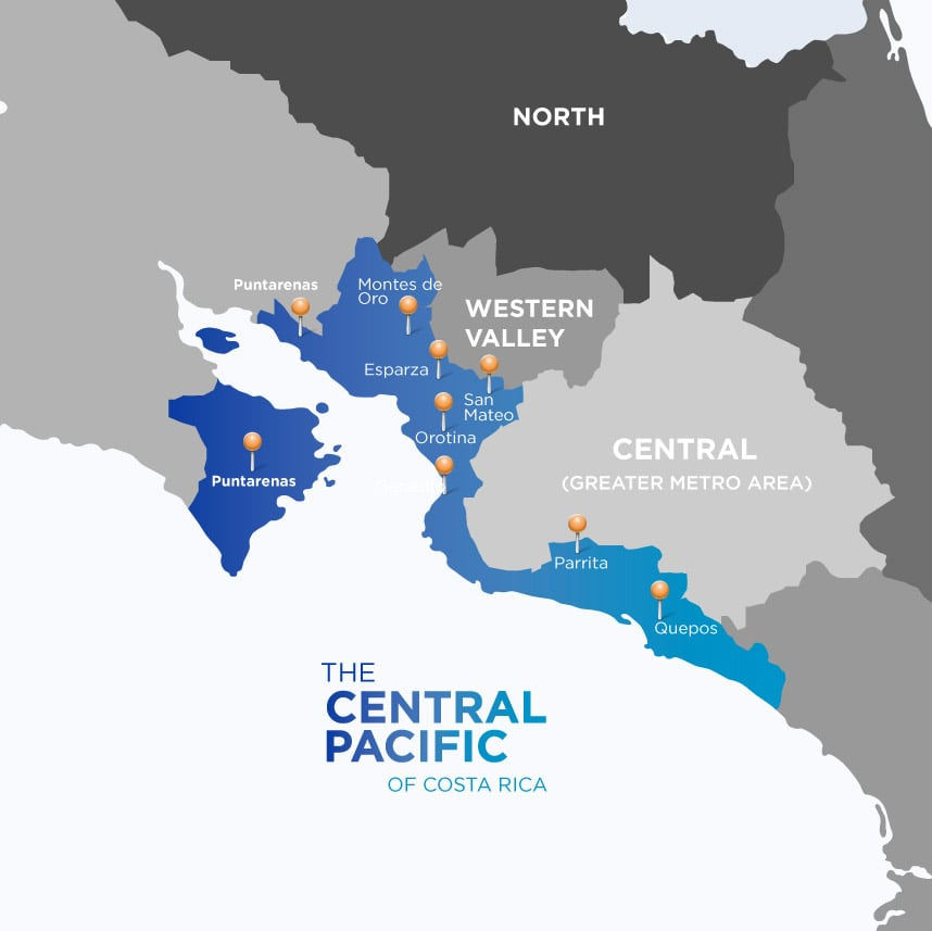 Central Pacific of Costa Rica