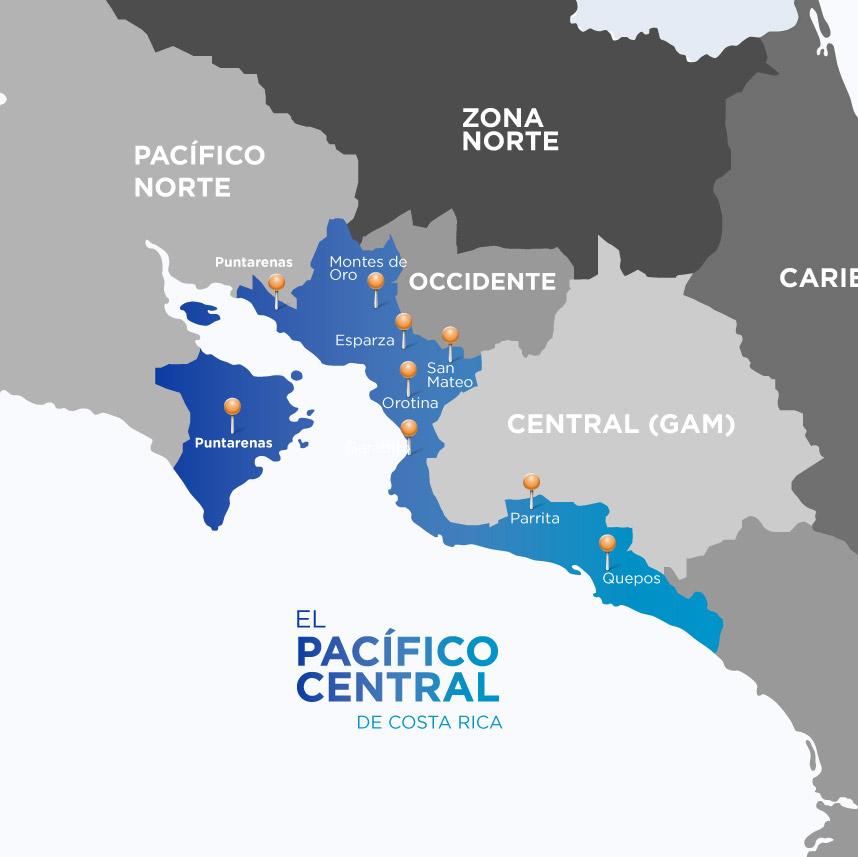 Pacífico Central de Costa Rica