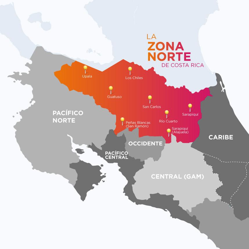 Zona Norte de Costa Rica