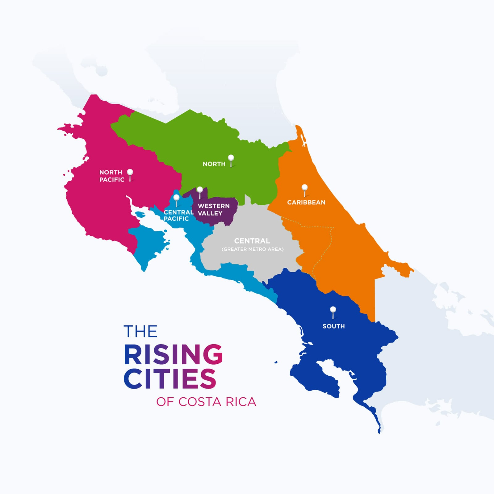 Rising Cities map of Costa Rica