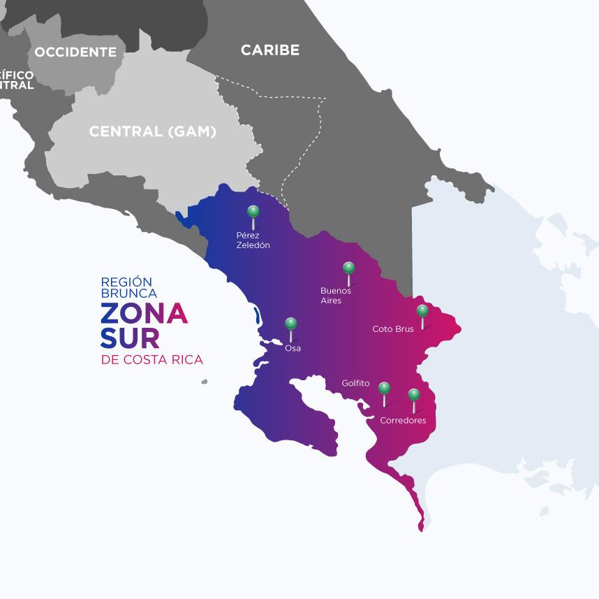 Zona Sur de Costa Rica